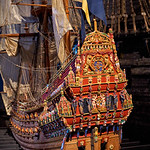 Reconstruction of the original stern of the sunken Vasa - Vasa Museum